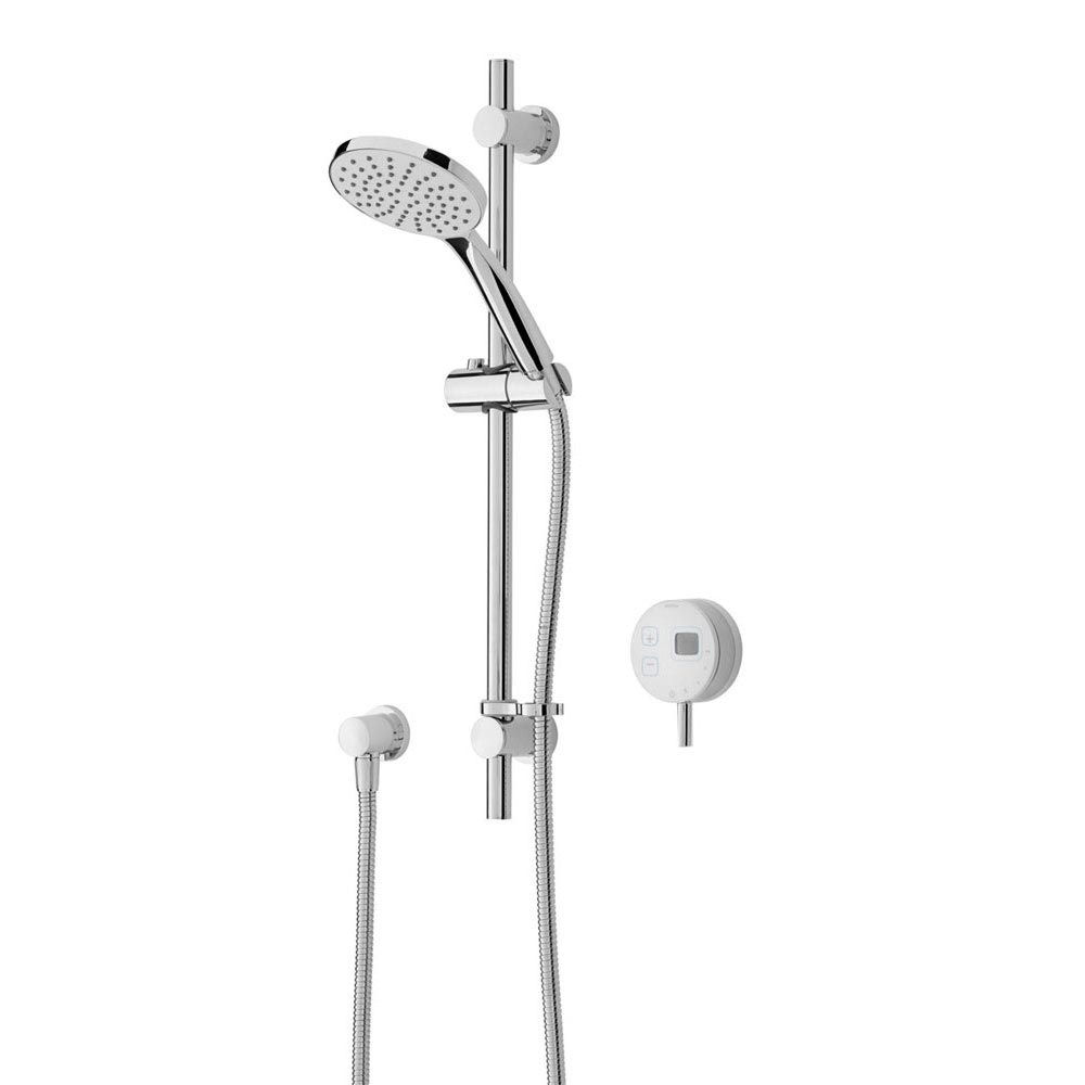 Bristan Artisan Evo Digital Thermostatic Mixer Shower with Adjustable Riser - White Large Image