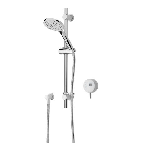 Bristan Artisan Evo Digital Thermostatic Mixer Shower with Adjustable Riser - White