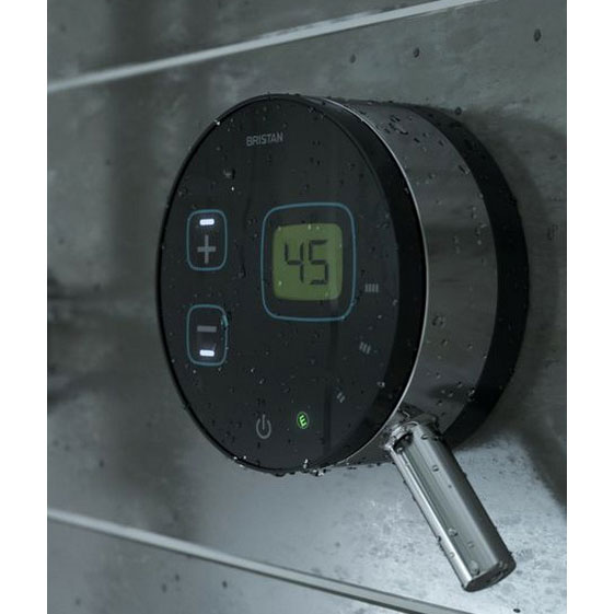 Bristan Artisan Evo Digital Thermostatic Mixer Shower with Ceiling Fed Rose - Black Feature Large Image