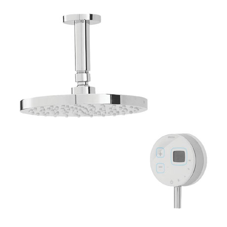 Bristan Artisan Evo Digital Thermostatic Mixer Shower with Ceiling Fed Rose - White