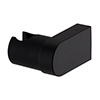 Arezzo Round Matt Black ABS Modern Wall Mounted Handset Holder profile small image view 1