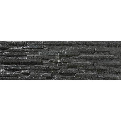Arenzo Black Stone Effect Split Face Tiles - 170 x 520mm