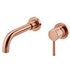 Arezzo Round Rose Gold Wall Mounted (2TH) Basin Mixer Tap profile small image view 1