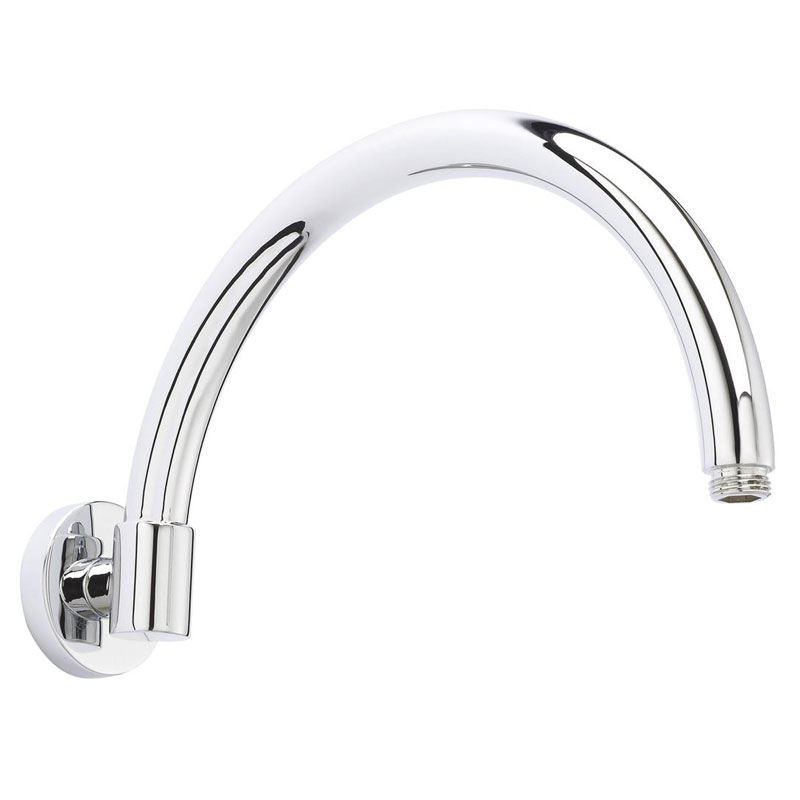 Hudson Reed - 300mm Round Fixed Head and Curved Wall Mounted Arm - HEAD26-ARM06 profile large image view 3