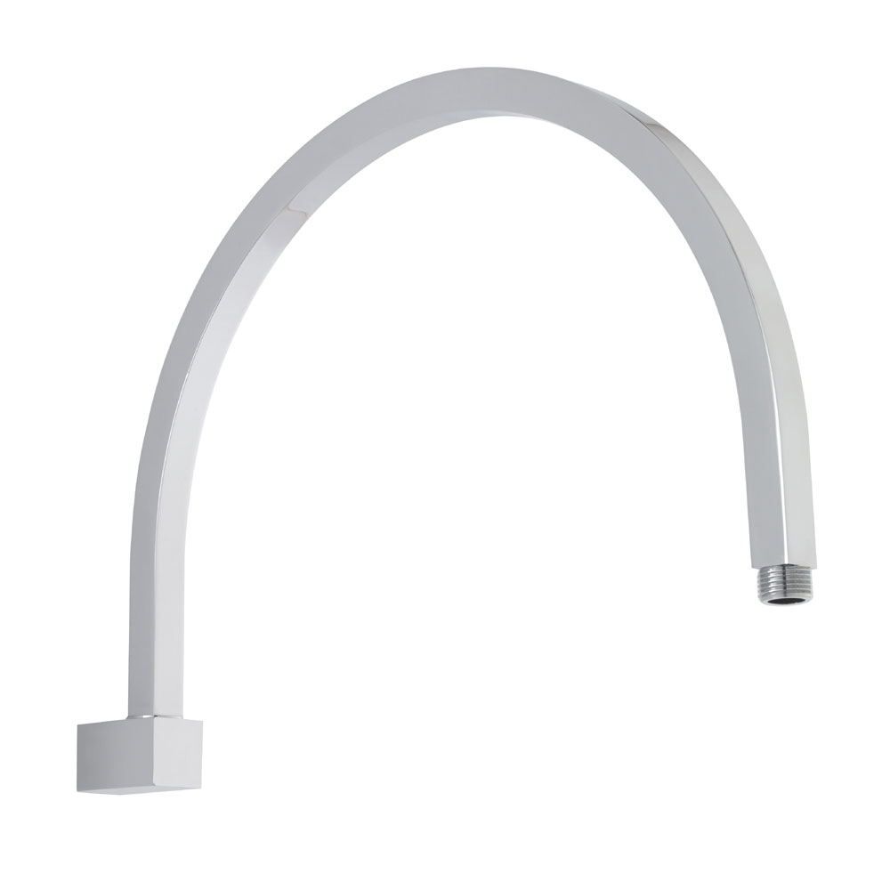 Premier - Curved Wall Mounted Shower Arm - 362mm Length - ARM43 Large Image