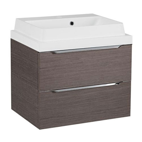 Tavistock Array 600mm Two Drawer Unit & Basin - Dark Java Large Image