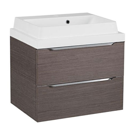 Tavistock Array 600mm Two Drawer Unit & Basin - Dark Java