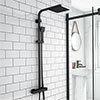 Arezzo Modern Square Thermostatic Shower - Matt Black profile small image view 1