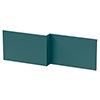 Arezzo Matt Green L-Shaped Front Bath Panel - 1700mm profile small image view 1