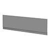 Arezzo Matt Grey Front Bath Panel - 1700mm profile small image view 1