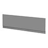 Arezzo Matt Grey Front Bath Panel - 1800mm profile small image view 1