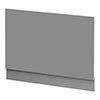 Arezzo Matt Grey End Bath Panel - 750mm profile small image view 1