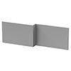 Arezzo Matt Grey L-Shaped Front Bath Panel - 1700mm profile small image view 1