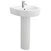Arezzo Basin 520mm Round 1 TH Basin + Full Pedestal profile small image view 1