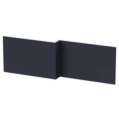 Arezzo Matt Blue L-Shaped Front Bath Panel - 1700mm
