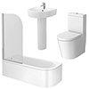 Arezzo Modern 1700 Shower Bath Suite profile small image view 1