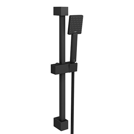 Arezzo Matt Black Square Slide Rail Kit