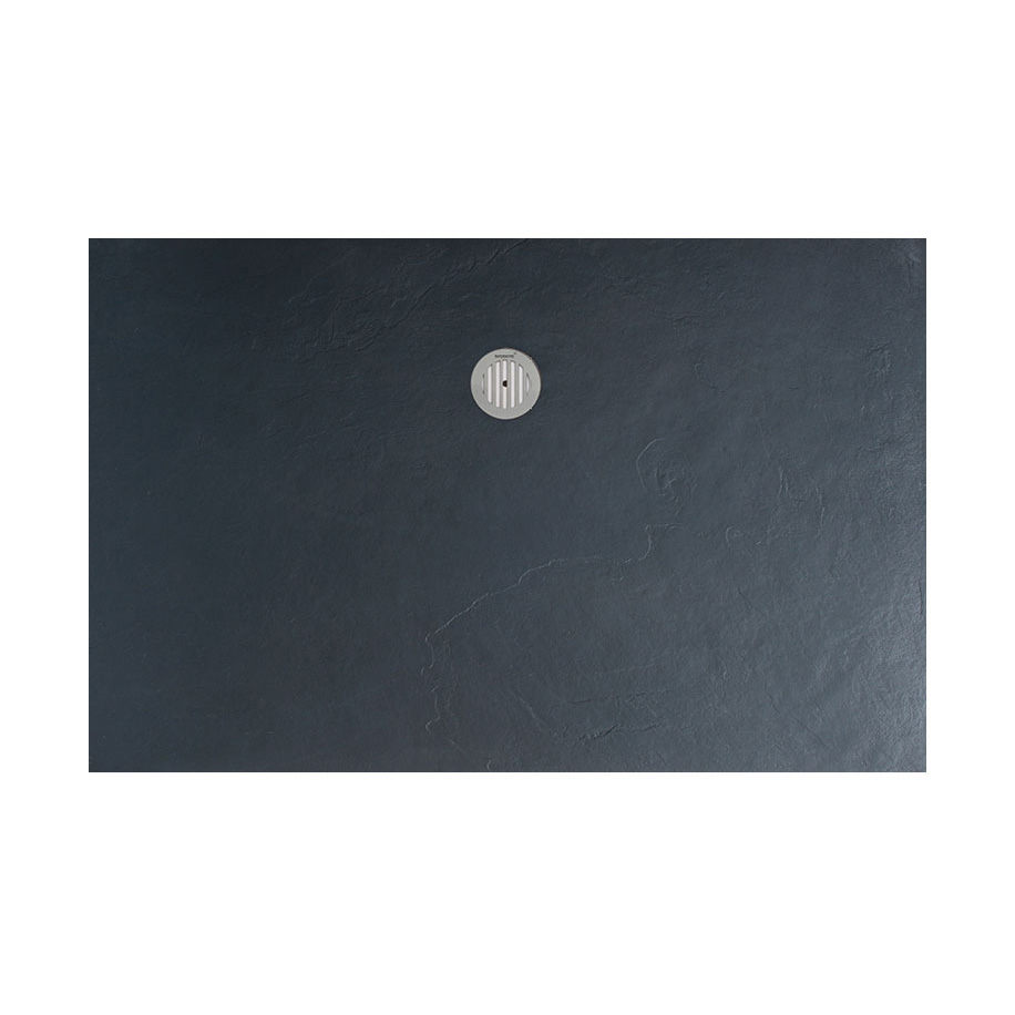 Simpsons - Grey Textured Slate Effect Shower Tray with Waste profile large image view 5