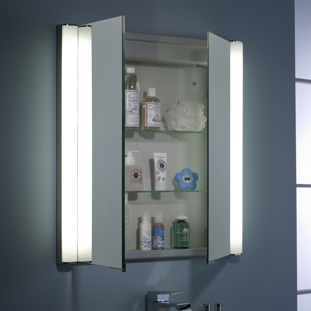 Roper Rhodes Transition Recessible Illuminated Mirror Cabinet - AS242 In Bathroom Large Image