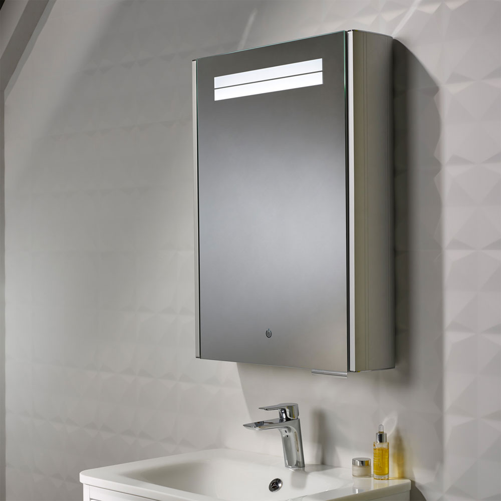 Roper Rhodes Touch Illuminated Mirror Cabinet with Demister Pad - AS252 profile large image view 3
