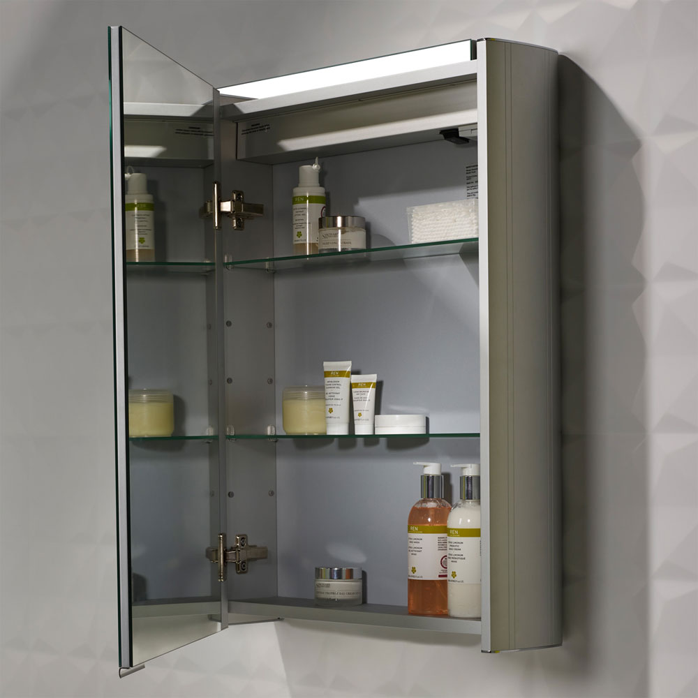 Roper Rhodes Touch Illuminated Mirror Cabinet with Demister Pad - AS252 profile large image view 4