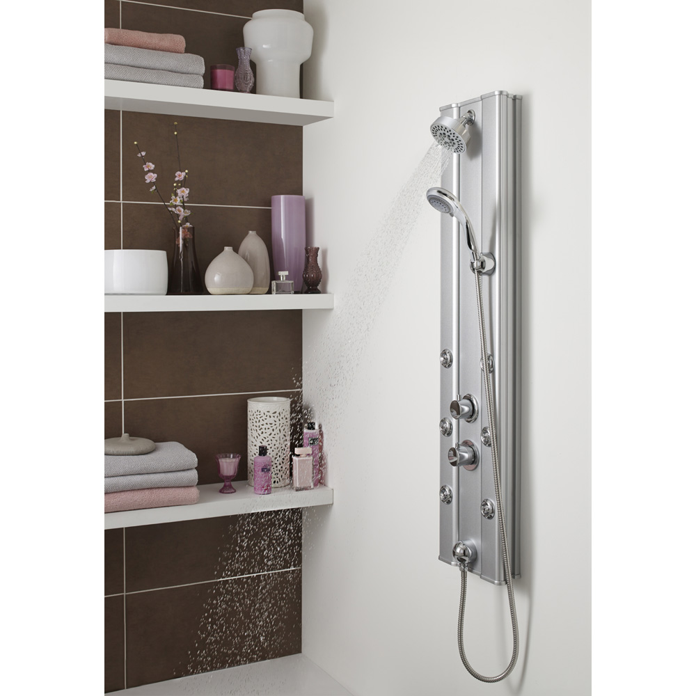 Premier - Thermostatic Shower Panel with Fixed Shower Head, 6 Body Jets & Shower Kit - AS305 profile large image view 2