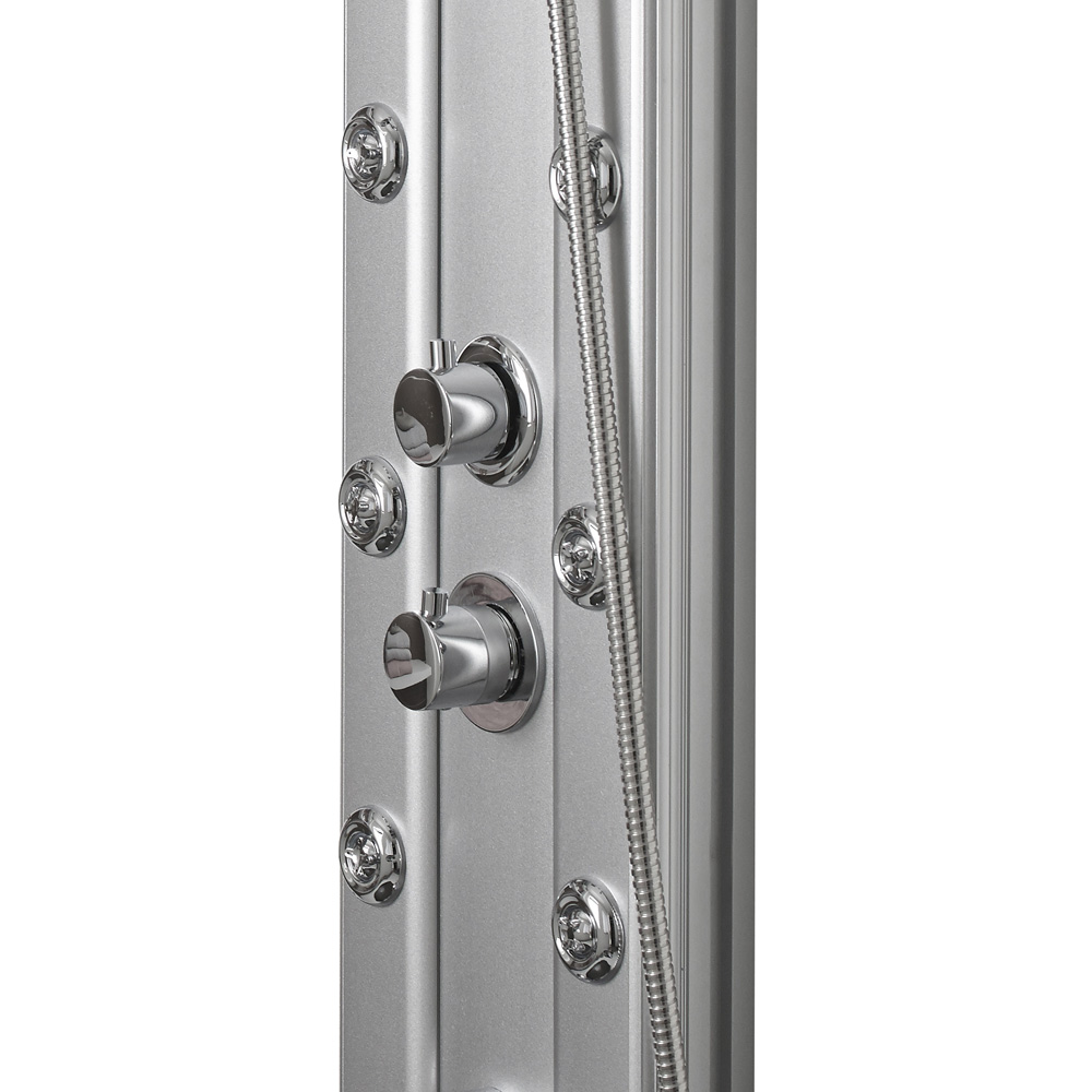Premier - Thermostatic Shower Panel with Fixed Shower Head, 6 Body Jets & Shower Kit - AS305 profile large image view 4