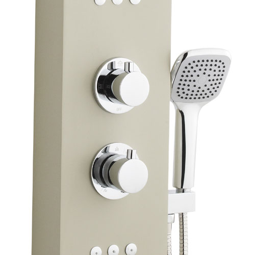 Ultra - Nesta Thermostatic Shower Panel - Cream - AS309 Standard Large Image