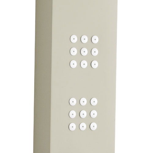 Ultra - Nesta Thermostatic Shower Panel - Cream - AS309 In Bathroom Large Image