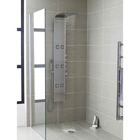 hudson reed astral thermostatic shower panel stainless. Black Bedroom Furniture Sets. Home Design Ideas
