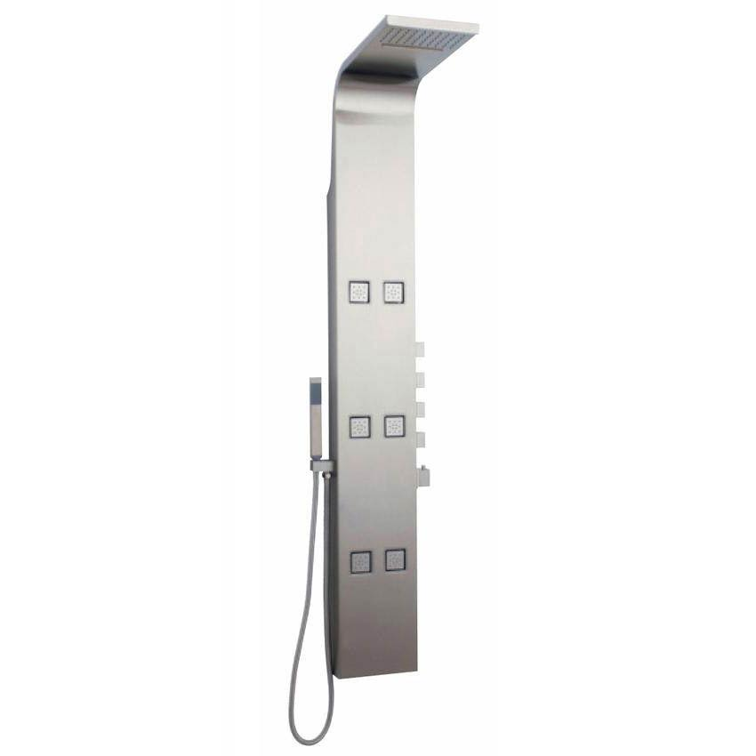 Hudson Reed Astral Thermostatic Shower Panel - Stainless Steel - AS326 profile large image view 1