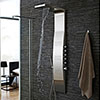Hudson Reed - Surface Curve Stainless Steel Thermostatic Shower Panel - AS342 profile small image view 1