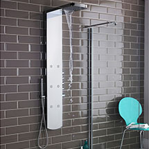 Hudson Reed - Shimmer Thermostatic Shower Panel - AS345 Medium Image