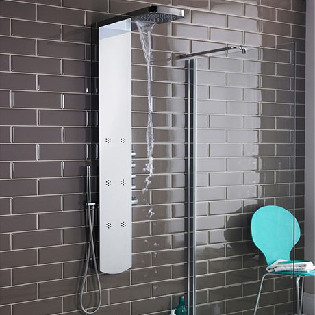 Hudson Reed - Shimmer Thermostatic Shower Panel - AS345