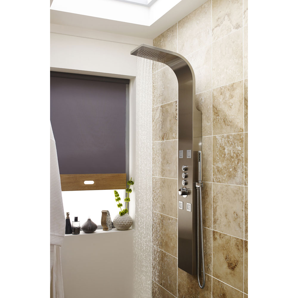 Premier - Pirlo Stainless Steel Thermostatic Shower Panel - AS346 profile large image view 2