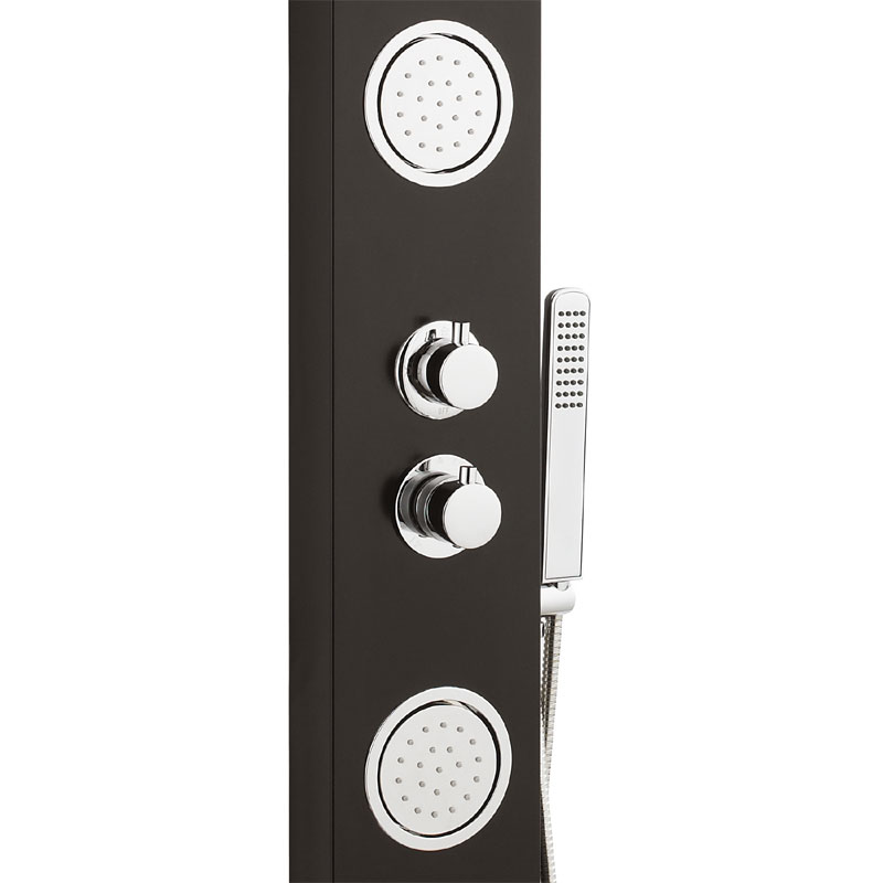 Ultra - Calgary Thermostatic Shower Panel - Black & White - AS372 Standard Large Image