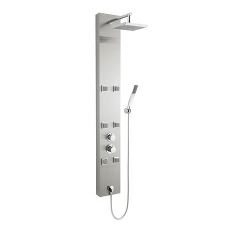 Ultra - Easton Thermostatic Shower Panel - Stainless Steel - AS374