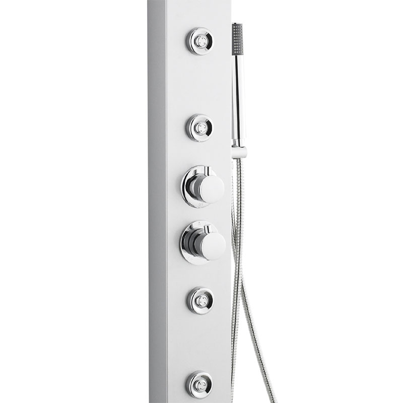 Ultra - Peyton Thermostatic Shower Panel - Matt Silver - AS376 profile large image view 3