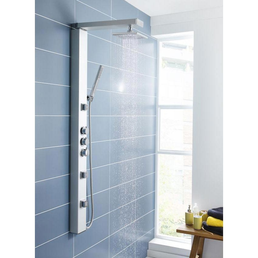 Ultra Thermostatic Shower Panel w/ Shower Spray & Body Jets - AS391 Profile Large Image