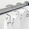 12 Double Glide Roller Shower Curtain Rings profile small image view 1