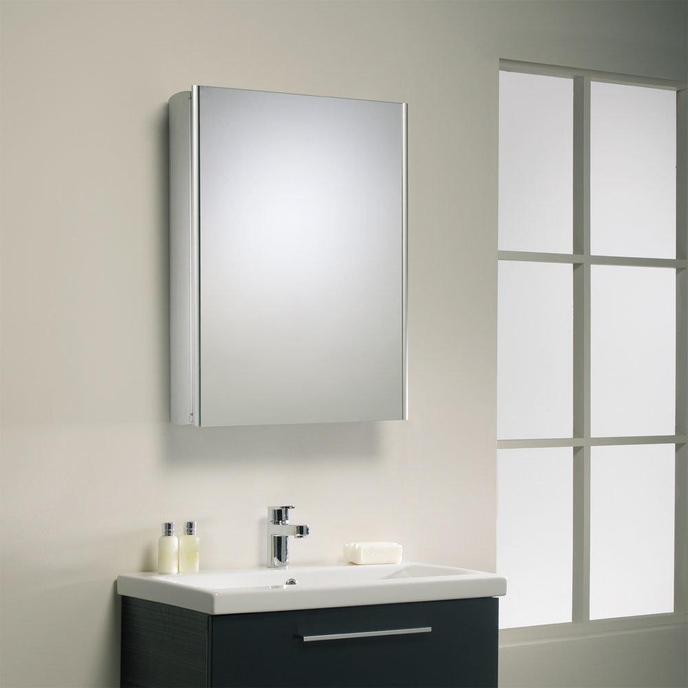 Roper Rhodes Limit Slimline Mirror Cabinet - Aluminium - AS415ALSLP Profile Large Image