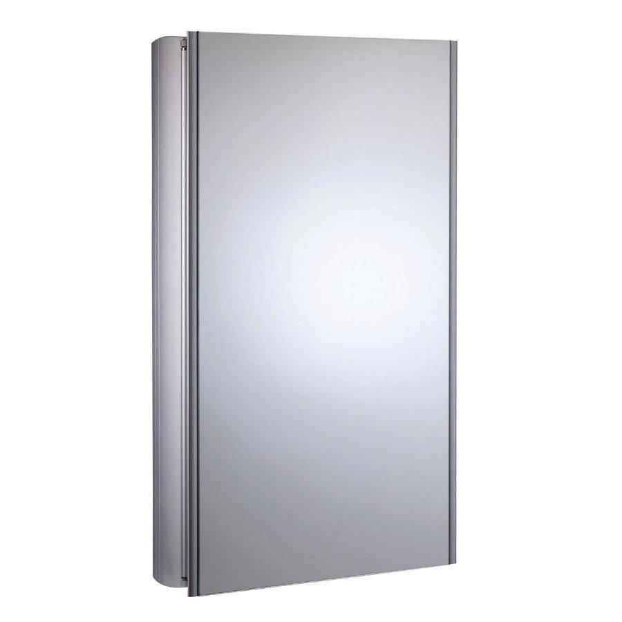 Roper Rhodes Limit Slimline Mirror Cabinet - Aluminium - AS415ALSLP Large Image