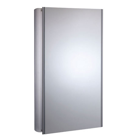 Roper Rhodes Limit Slimline Mirror Cabinet - Aluminium - AS415ALSLP