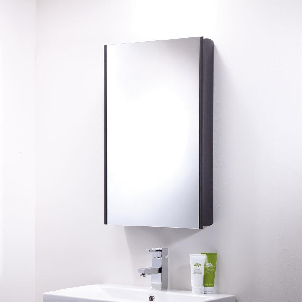 Roper Rhodes Limit Slimline Mirror Cabinet - Black - AS415BL Standard Large Image