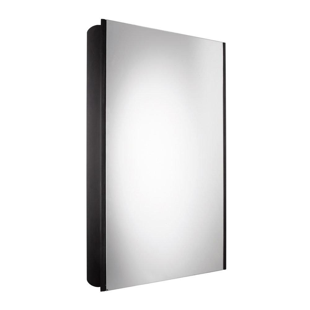Roper Rhodes Limit Slimline Mirror Cabinet - Black - AS415BL Large Image