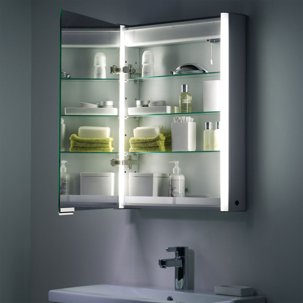 Roper Rhodes Plateau Illuminated Mirror Cabinet - Aluminium - AS515ALIL Feature Large Image