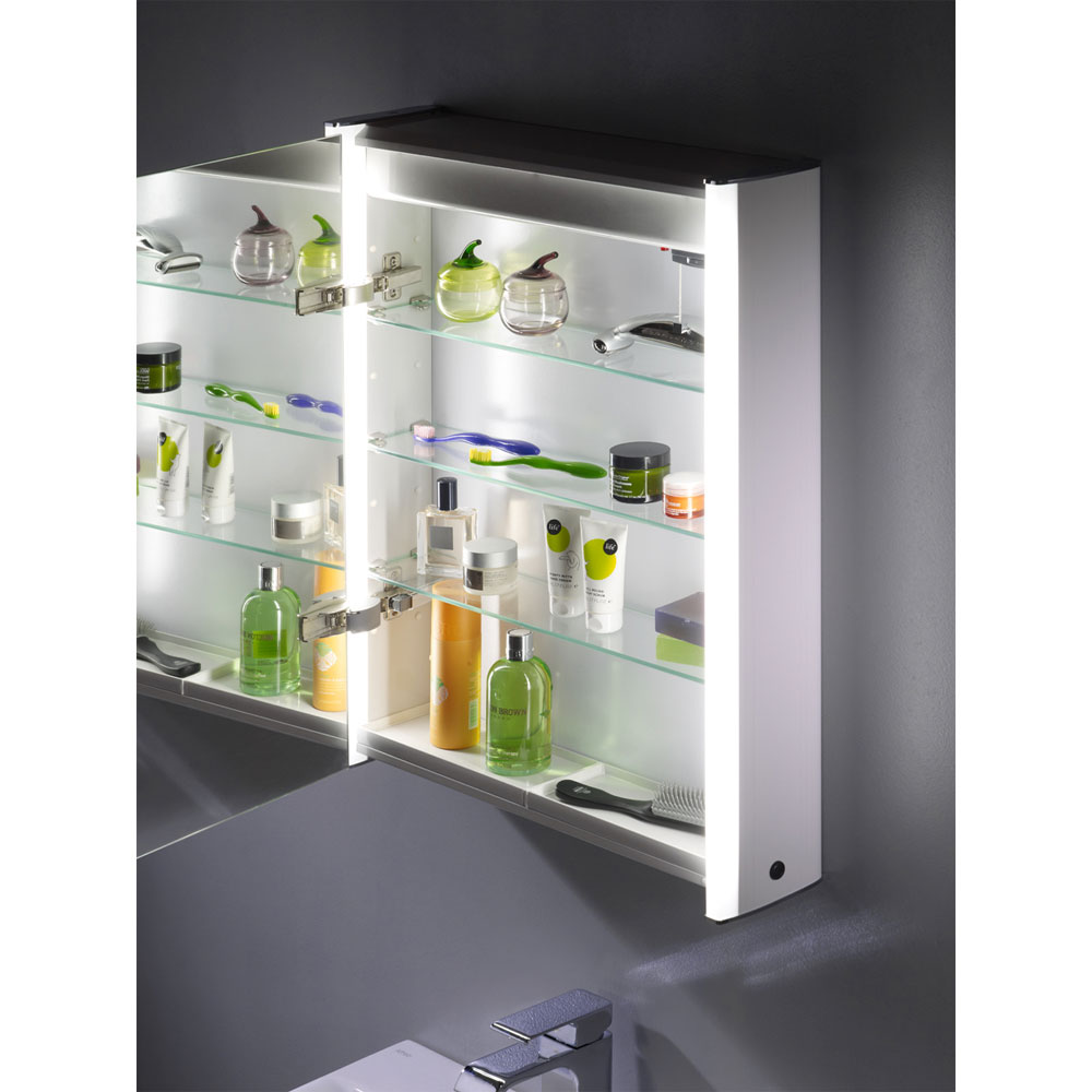 Roper Rhodes Plateau Illuminated Mirror Cabinet - White - AS515WIL additional Large Image