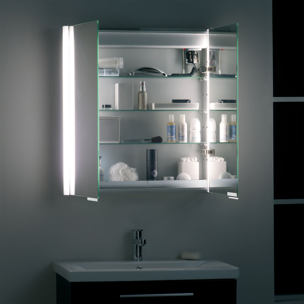 Roper Rhodes Summit Illuminated Mirror Cabinet - White - AS615WIL Feature Large Image