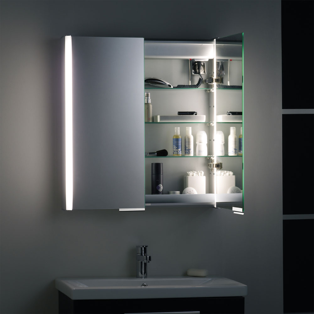 Roper Rhodes Summit Illuminated Mirror Cabinet - White - AS615WIL Standard Large Image