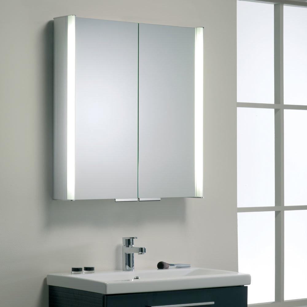 Roper Rhodes Summit Illuminated Mirror Cabinet - Aluminium - AS615ALIL profile large image view 5